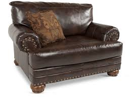 Vintage Recliner Chair Rolled Arm Traditional Chair And A Half In Brown Mathis Brothers
