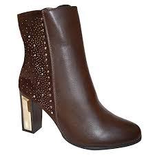 womens chelsea boots uk xelay womens chelsea boots block heel ankle studded zip closure
