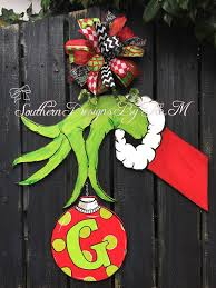 the grinch door hanger grinch wooden by southerndesignsbytm