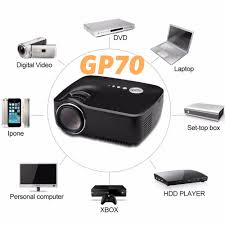 home theater connection to led tv aliexpress com buy simplebeamer mini led projector gp70 support