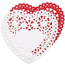 heart shaped doilies wilton paper doilies 4 hearts the st simply ribbon store