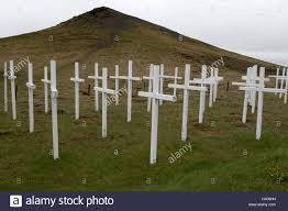 field of crosses memorial to those killed on the main road between