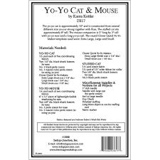 yo yo cat u0026 mouse stuffed animal sewing pattern from indygo