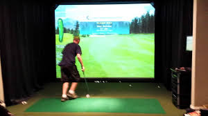 Home Golf Simulator by Indoor Golf Simulator And Movie Screen Youtube