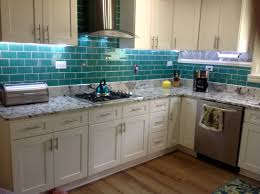 emerald green glass subway tile kitchen backsplash idolza