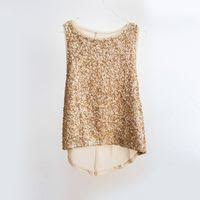 metallic gold blouse sequin blouses tops exporter manufacturer service