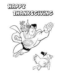 superman flying thanksgiving turkey coloring u0026