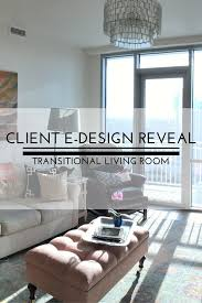 Transitional Living Room by E Design Reveal Photos Transitional Living Room U2014 Sarice Amiee