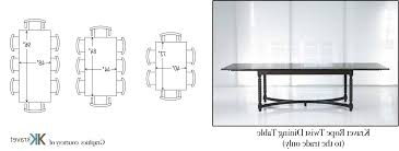 Dining Room Table Sizes Awesome Standard Conference Table Dimensions With Awesome Dining