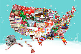 Daylight Savings Map Top Christmas Candy By State Interactive Map Candystore Com