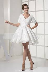 interesting short white wedding dresses canada features party