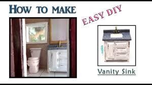 how to make a doll vanity bathroom sink diy miniature vanity