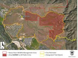 Wildfire Map Wildfire Closes Portion Of Boise River Wma Idaho Fish And Game