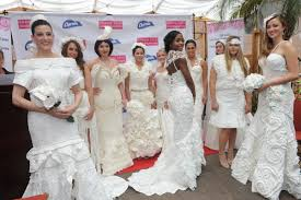 paper wedding dress 12th annual toilet paper wedding dress contest winners the