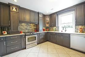 Grey Kitchens Ideas Large Grey Corner Kitchen Cabinets Ideas With Lights And Mosaic