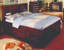 Bookcase Bed Full Merlot Full Bookcase Captains Bed Discovery Furniture