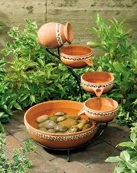 small indoor garden ideas exceptional brown pottery bowl indoor water fountains with iron