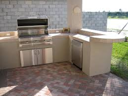 Kitchen  L Shaped Design Of Outdoor Kitchen Grills Outdoor - Outdoor kitchen cabinets polymer