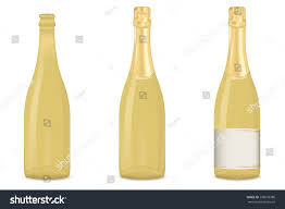 champagne bottle outline drawn bottle empty bottle pencil and in color drawn bottle empty