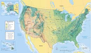 united states map with rivers and mountain ranges physical map of the united states america us with and mountain