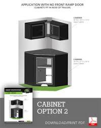 v nose trailer cabinets neo trailer cabinets