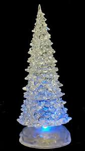 christmas tree lights amazon uk colour changing led christmas tree light up ornament ice effect