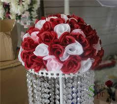 Flower Ball Aliexpress Com Buy Mix Red White Wedding Kissing Flower Ball