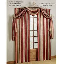 Macys Kitchen Curtains by Decoration Popular Wing Scarf Double Red Curtains Layout For