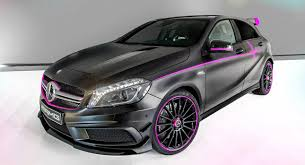 mercedes customized mercedes pinks out a custom a 45 amg called erika