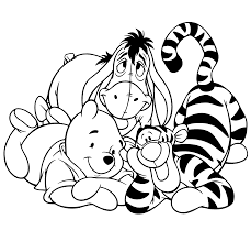 winnie the pooh coloring pages for kids disney inside disney
