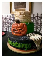 birthday halloween cake if only i could make this goosebumps party pinterest