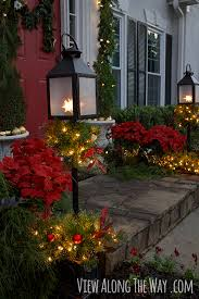 Christmas Decoration For Your Door by Our Christmas Porch The Home Depot Challenge View Along The