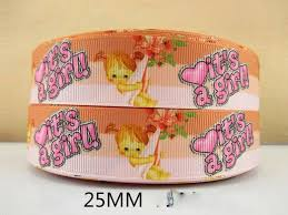 it s a girl ribbon 1 metre it s a girl new baby ribbon size inch bow headbands hair