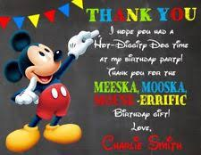 mickey mouse thank you cards mickey mouse thank you greeting cards ebay