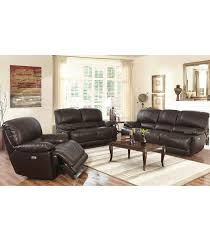 3pc Living Room Set Living Room Sets Arleta 3 Piece Leather Power Reclining Set