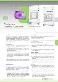 esco evidence drying cabinet
