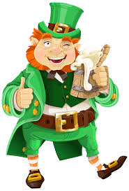 st patricks day leprechaun with beer transparent png clip art