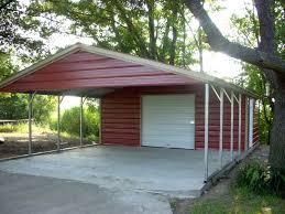 Garage With Carport Metal Carport Metal Buildings U0026 Garages In Texas