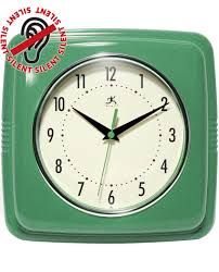 9 25 inch square retro green resin wall clock clock by room