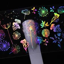 10 pcs 4 20cm holographic nail foil panda butterfly dandelion