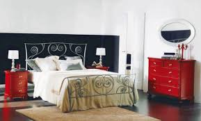 Bedrooms With Metal Beds Fantastically Wrought Iron Bedroom Furniture