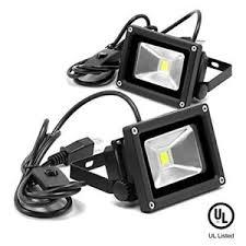 120v led flood lights etoplighting 2 pack 10w 120v led flood light ip65 waterproof 5400k