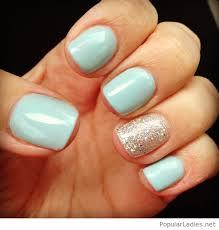 blue nail design idea