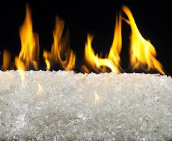 Diamond Fireplace Glass Glass And Crystals Gas Fire Alternatives Fireplace Gas Logs