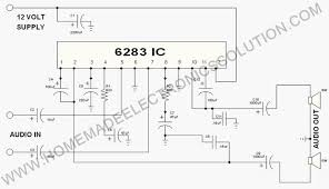 stereo 6283 audio amplifier simple 4 steps