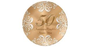 50th anniversary gold plate personalized porcelain 50th anniversary gold plate zazzle
