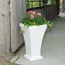 white self watering planters pots u0026 planters the home depot