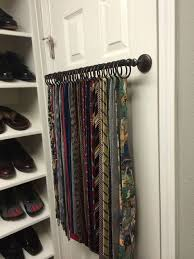 Ideas For Wall Mounted Tie Rack Design Now I What To Do With My Golf Clubs Turns Ties And Belts