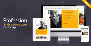 vc resume profession one page cv resume theme by pixflow themeforest