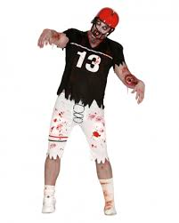 Halloween Costume Football Player Zombie Football Player Costume American Sport Walker Horror